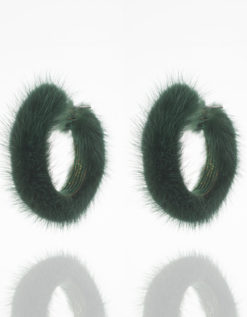 Ranjana Khan Green Mink Hoop