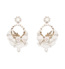 Ranjana Khan Yvonne White Earrings