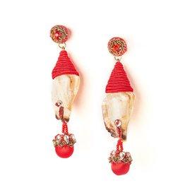 Ranjana Khan Red Plancha Earrings