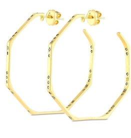 18k Constellation Diamond Hoops