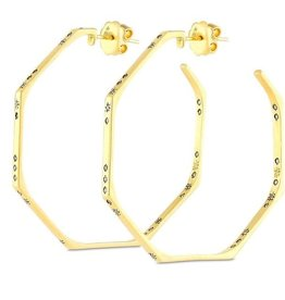 Suel 18k Constellation Diamond Hoops