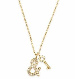 18k Lock & Key Necklace