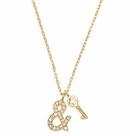 Suel 18k Lock & Key Necklace