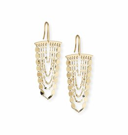 Lana Yellow Gold Nude Cascade Earrings