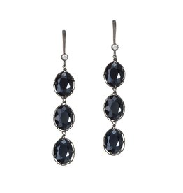 Theia 3 Tier Midnight Drop Earrings