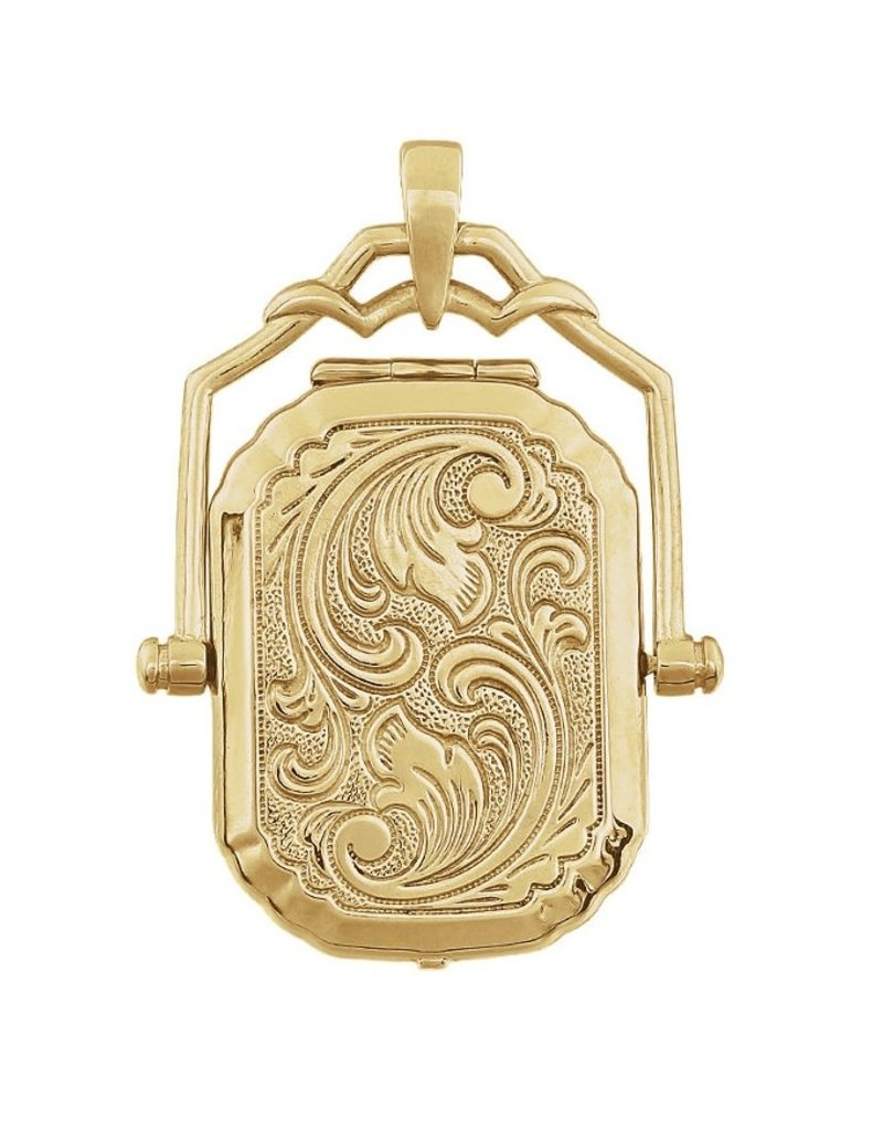 Yellow Gold Engraved Locket