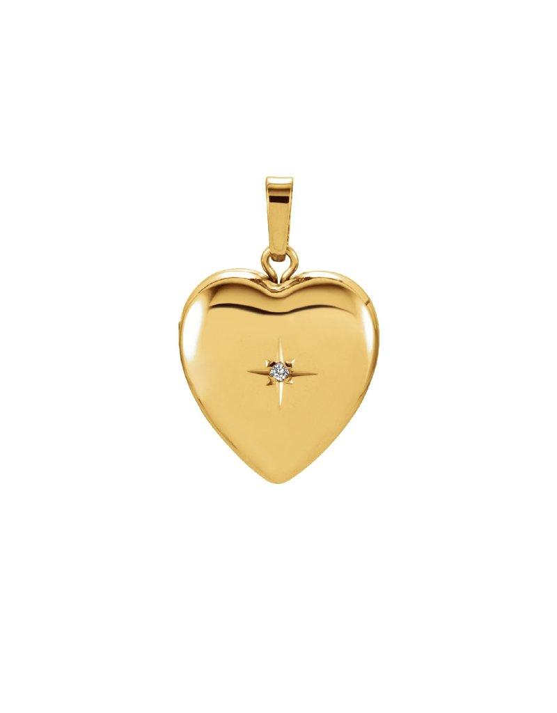 Yellow Gold Diamond Heart Locket