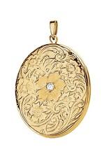 Yellow Gold Flower Diamond Four-Photo Locket