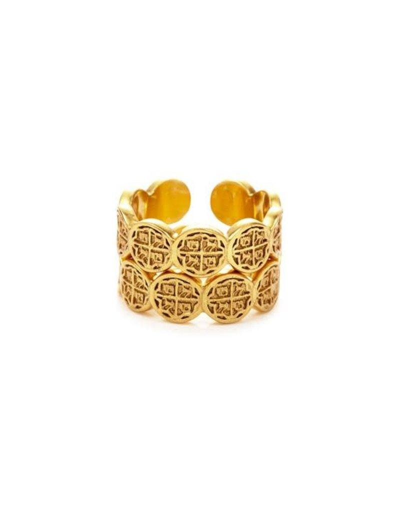 Julie Vos Valencia Stacking Ring Gold 8/9