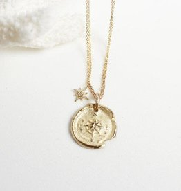 14KY Compass Necklace