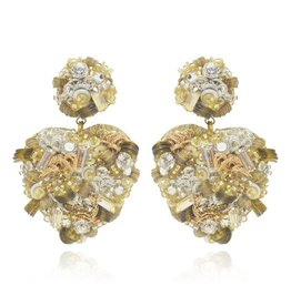 Sagrado Corazon Drop Earrings Champagne
