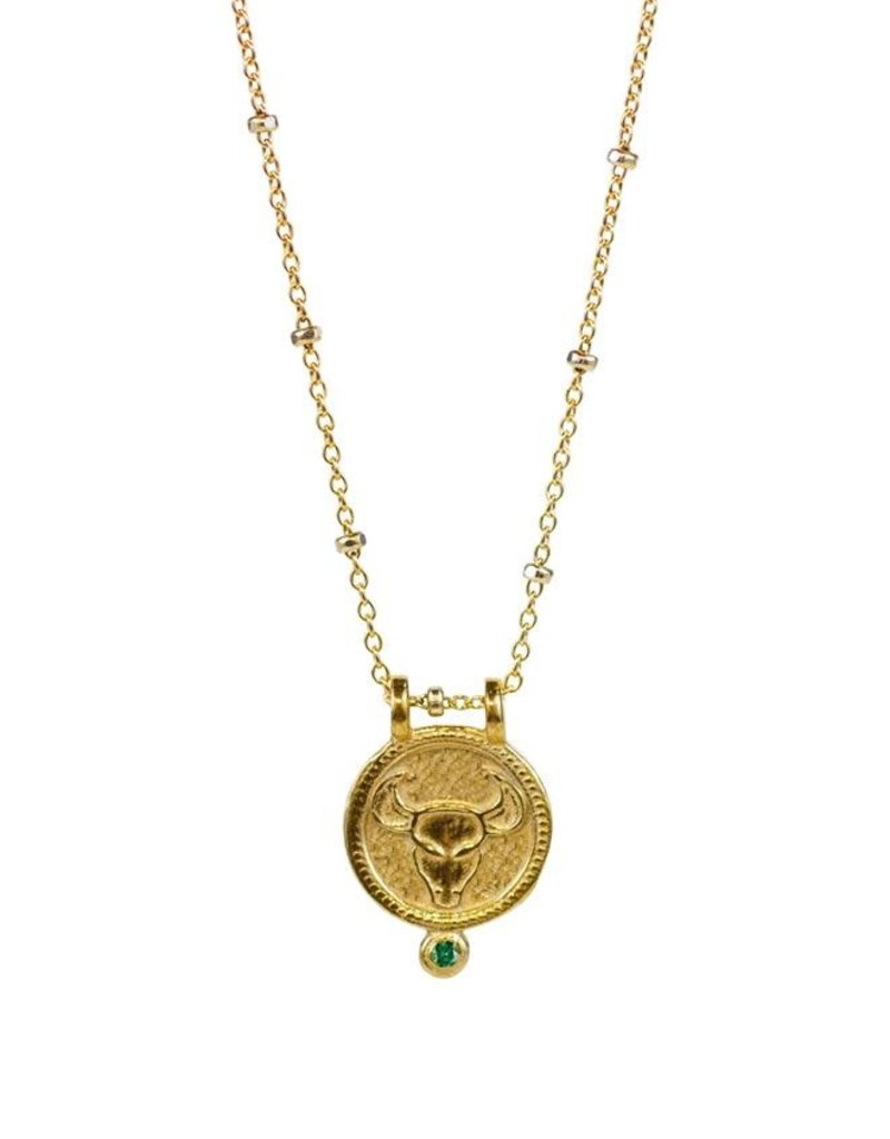 Taurus Zodiac Medallion Necklace