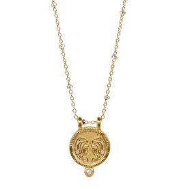 Gemini Zodiac Medallion Necklace