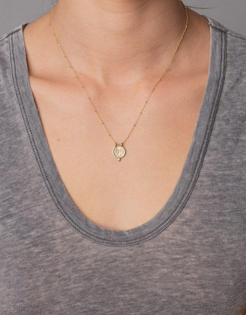 Gemini Zodiac Medallion Necklace