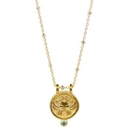 Cancer Zodiac Medallion Necklace
