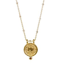 Leo Zodiac Medallion Necklace