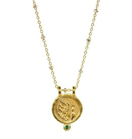 Virgo Zodiac Medallion Necklace