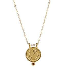 Sagittarius Zodiac Medallion Necklace