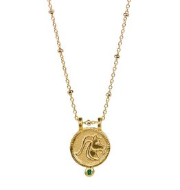 Capricorn Zodiac Medallion Necklace