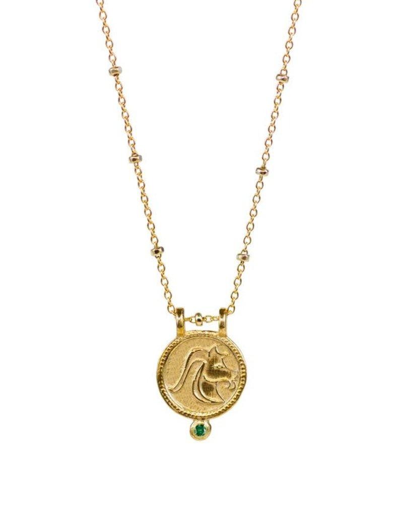 Capricorn Zodiac Medallion Necklace