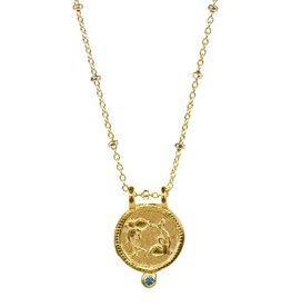 Pisces Zodiac Medallion Necklace