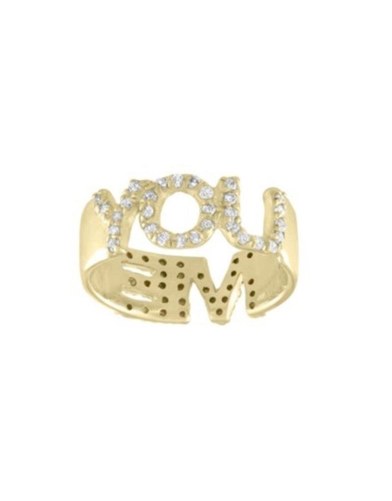 Eden Presley You/Me Pave Diamond Ring