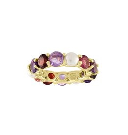 Eden Presley Shades of Purple Round Eternity Band