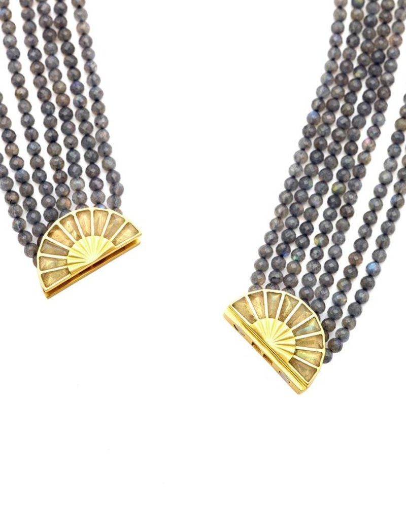 Dean Davidson Mosaic Beaded Collar Necklace