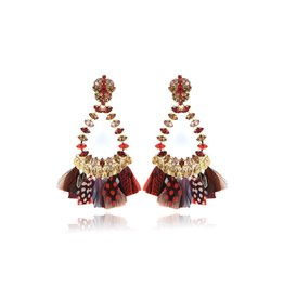 Gas Bijoux Riviera Crystal & Feather Earrings