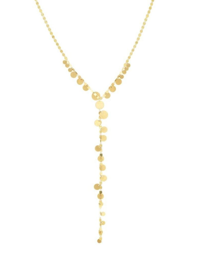 Lana Yellow Gold Multi Disc Lariat