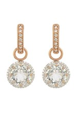 Jude Frances Rose Gold Provence Delicate Pave Trio Charm