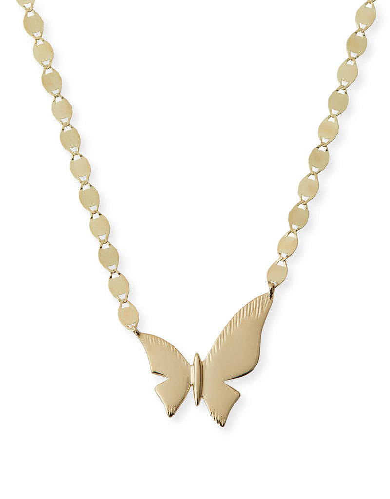 Lana Rose Gold Small Butterfly Necklace