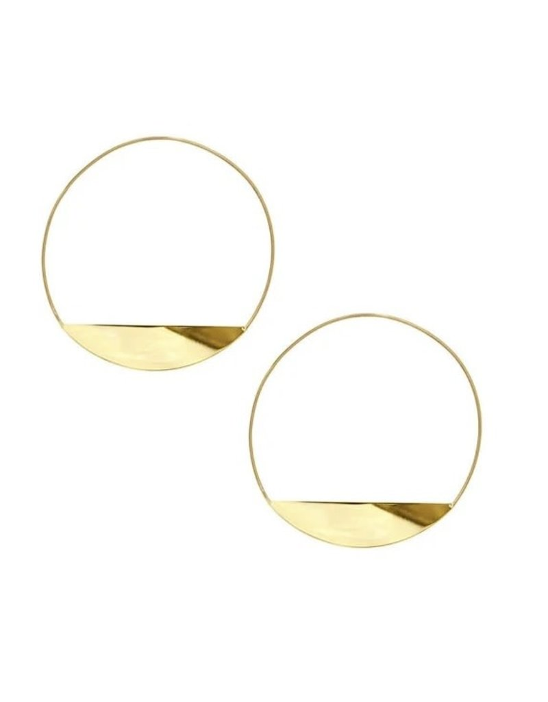 Lana Yellow Gold Eclipse Magic Hoop