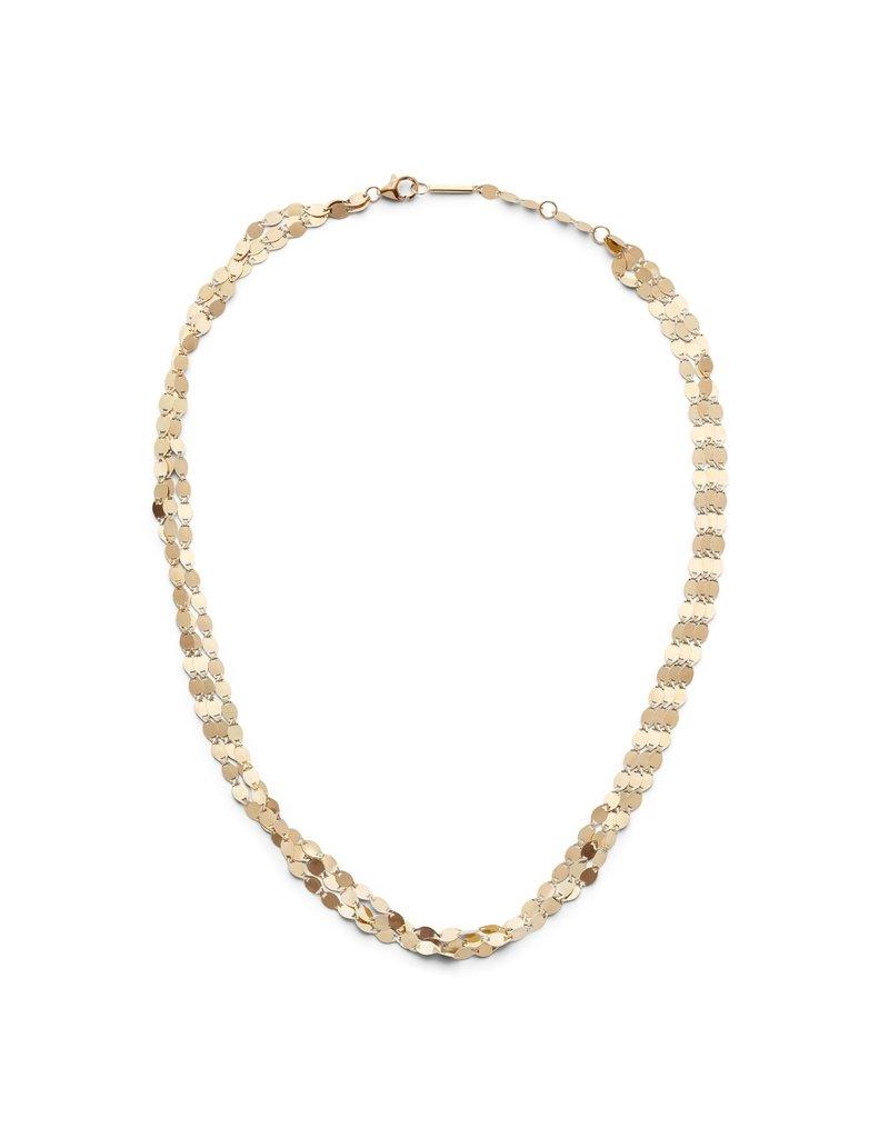 Lana Yellow Gold Three Strand Nude Necklace