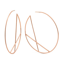 Lana Rose Diagonal  Eclipse Hoops