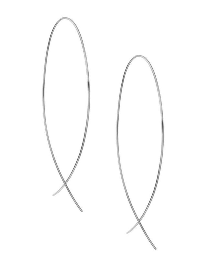 Lana White Gold Wire Upside Down Hoops