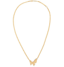 Lana Yellow Gold Large Butterfly Pendant Necklace