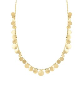 Lana Yellow Gold Large Multi Disc Necklace