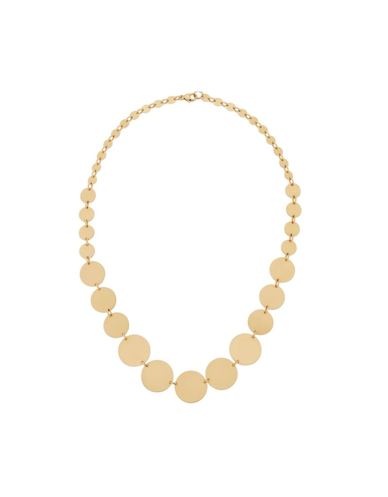 Lana Yellow Gold Disc Necklace