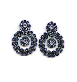 Miguel Ases Blue & Grey Drop Earrings