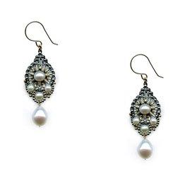 Miguel Ases Miyuki & Pearl Drop Earrings