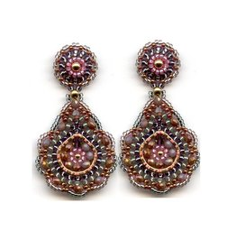 Miguel Ases Scalloped Teardrop Earrings