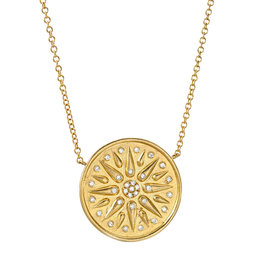Liven Yellow Gold Talisman Medallion Necklace