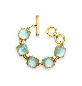 Julie Vos Catalina Bracelet Gold Iridescent Aquamarine Blue