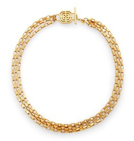 Julie Vos Geneva Triple Strand Necklace Gold