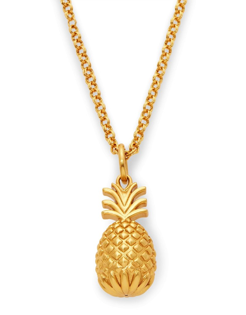 Julie Vos Pineapple Pendant Gold