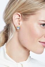 Julie Vos Mirren Stud Gold Iridescent Peridot Green