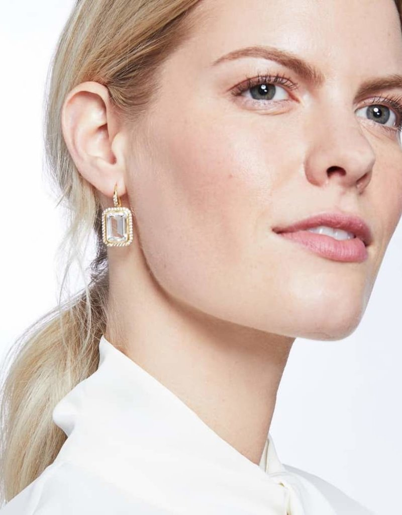 Julie Vos Clara Luxe Earring Gold Rose