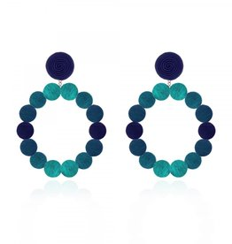 Silk Ombré Sardegna Hoop Earrings