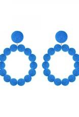Blue Sardegna Hoop Earrings
